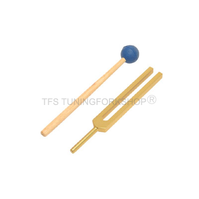 Gold Finish Circulation Tuning Fork 586Hz