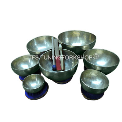 7 Tone Chakra Singing Bowl Set